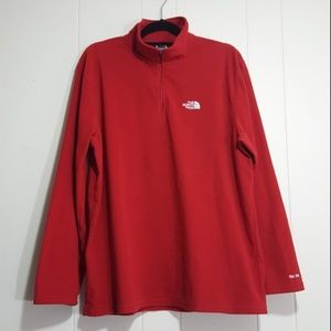 North Face TKA 100 Glacier pullover red size XL